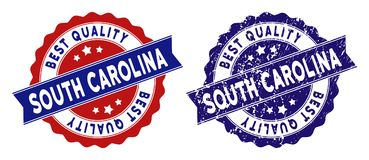 Carolina State Best Quality Stamp del sud con struttura sporca Fotografia Stock Libera da Diritti