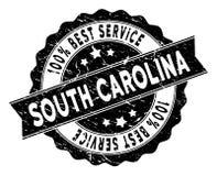 Carolina State Best Service Stamp del sud con struttura di lerciume Immagine Stock