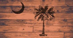 Carolina State Flag Brand du sud Photographie stock