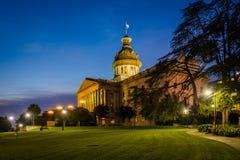 Carolina State House del sud dentro alla notte, in Colombia, C del sud Immagini Stock