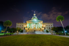 Carolina State House del sud dentro alla notte, in Colombia, C del sud Fotografia Stock Libera da Diritti
