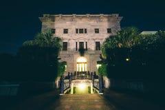 Carolina State House del sud dentro alla notte, in Colombia, C del sud Immagine Stock Libera da Diritti