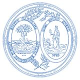 Carolina State Seal du sud illustration de vecteur