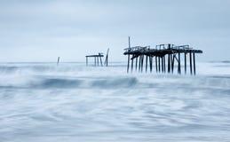 Carolina Storm Aftermath du nord images libres de droits