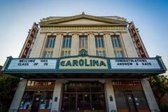 Carolina Theater, in Greensboro van de binnenstad, Noord-Carolina royalty-vrije stock foto's