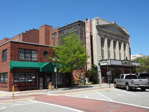 Carolina Theatre historique à Greensboro, la Caroline du Nord Photos libres de droits