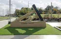 Carolina Veterans Park del norte, Fayetteville 22 de marzo de 2012: Parquee dedicado a todos los veteranos del NC en el estado foto de archivo