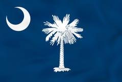 Carolina Waving Flag del sur Textura del fondo de la bandera del estado de Carolina del Sur stock de ilustración