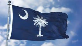 Carolina Waving Flag sul Imagem de Stock Royalty Free