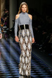 Caroline Brasch Nielsen walks the runway during the Balmain show Stock Photo