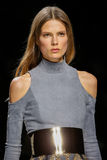 Caroline Brasch Nielsen walks the runway during the Balmain show Royalty Free Stock Image