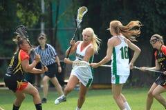 Caroline Peters - lacrosse Arkivfoto