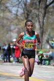 Caroline Rotich races up the Heartbreak Hill Royalty Free Stock Photo