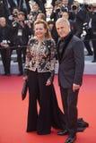 Caroline Scheufele και Christoph Waltz στοκ φωτογραφία με δικαίωμα ελεύθερης χρήσης