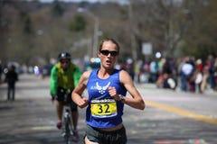 Caroline White races up the Heartbreak Hill Royalty Free Stock Photo