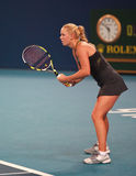 Caroline Wozniacki bij 2010 Open China Stock Foto