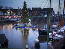 Carolinensiel with cristmas tree Stock Photography