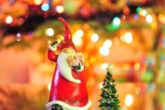 caroling идя год santa Стоковые Изображения RF
