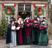 Caroling Royalty Free Stock Photography