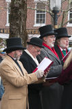 Christmas Caroling Stock Photography