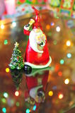 caroling claus santa Стоковое Изображение RF
