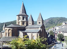 Carolingian-Kloster von Conques Stockfotos