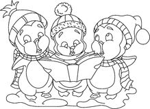 Carols_bw de Noël illustration libre de droits
