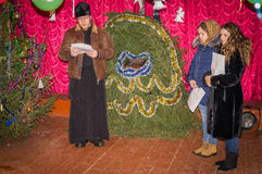 Carols for Christmas 8 January 2016 in the Kaluga region (Central Russia). Stock Photo