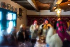 `Carols in old village` festival in TransCarpathia. Uzhgorod, Ukraine - January 15, 2017: `Carols in old village` festival in TransCarpathian Regional Museum of Stock Images