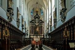Carolus Borromeus Church in Antwerpen, België stock foto's