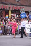 Carolyn Maloney in gay parade Manhattan Stock Images