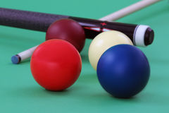 Carom balls Stock Photo
