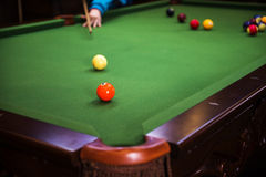 Carom billiards Stock Photo