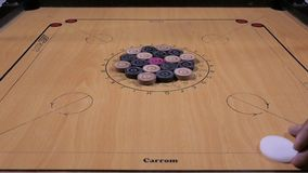 Carom board stock video footage