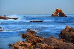 Carona Del Mar. This image was taken at Little Corona Del Mar, CA Stock Images