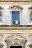 Caronno varesino cross church varese italy the old rose window Stock Photos