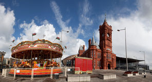 Carosel. Views around Cardiff Bay and the Millennium Waterfront and the Roald Dahl Plass South Wales UK Royalty Free Stock Images