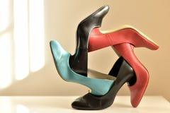 Carosello 2 della scarpa Immagine Stock