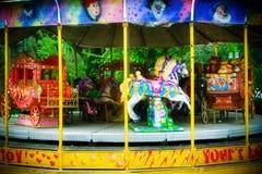 Carosello nel themepark Immagini Stock
