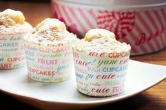 Carot cupcake homemade with box Royalty Free Stock Photos
