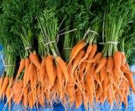 Carot in de markt verse en organische groente Stock Afbeelding