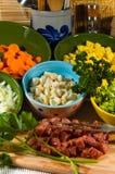 Carota degli ingredienti - stufato/minestra Immagine Stock Libera da Diritti