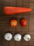 Carota del pomodoro dell'aglio Fotografie Stock Libere da Diritti