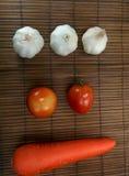 Carota del pomodoro dell'aglio Immagini Stock Libere da Diritti