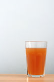 Carota organica Juice Background fotografie stock