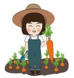Carote del raccolto della piantatrice Immagini Stock