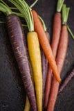 Carote organiche dell'arcobaleno Immagine Stock