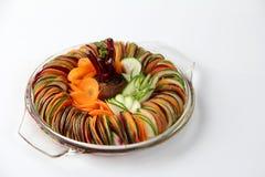 Carotte de betteraves de concombre de salade coupée en tranches Image libre de droits