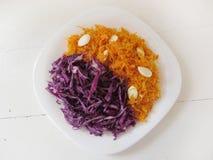 Carotte et salades de choux photos stock