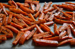 Carottes de pommes frites adaptées Photo libre de droits